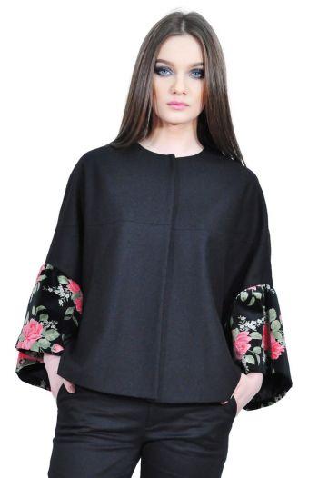 jacheta neagra eleganta de dama RVL D2522
