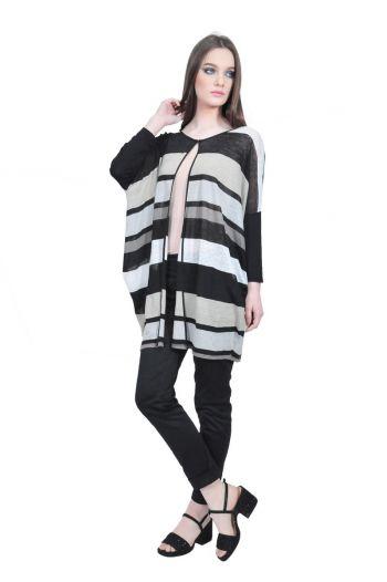 RVL stripes cardigan D2523 - women blouses - RVL online shop ededf512512c