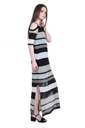 rochie lunga cu dungi RVL, D2529