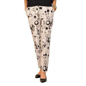 Pantaloni dama RVL Blissful alb negru