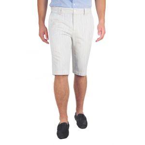 pantaloni barbati 3/4 crem dungi