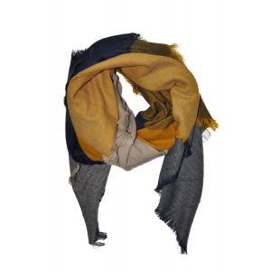 esarfa mustar-bleumarin