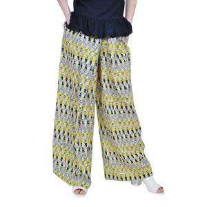 pantalon larg de dama, galben, RVL D2508
