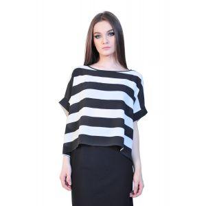bluza dama dungi alb negru D2512 RVL