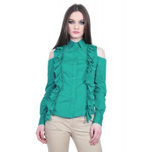 Camasa verde de dama cu volane, RVL D2513