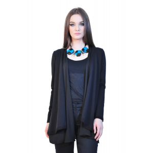 Cardigan negru de dama, RVL D2324A