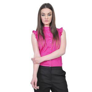 camasi roz de dama fara maneci D2550