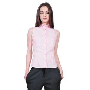 camasa roz de dama fara maneci D2551