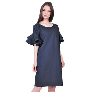 rochie eleganta de dama bleumarin D252