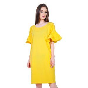 rochie eleganta de dama galben D2552