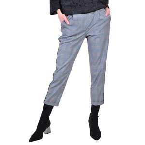 pantalon 3/4 de dama gri bleu D2617