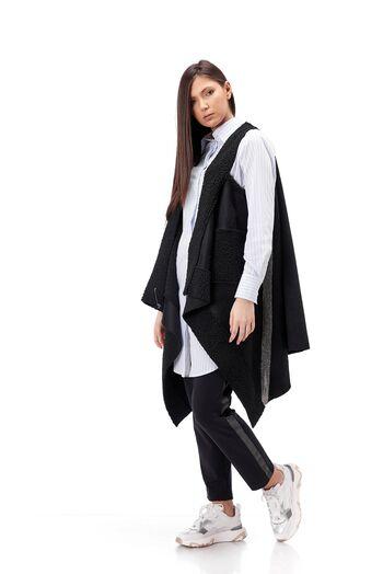 vesta dama RVL,larga, in colturi cu banda argintie pe laterala